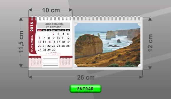 Calend rios de mesa personalizados - Plantilla calendario de mesa ...
